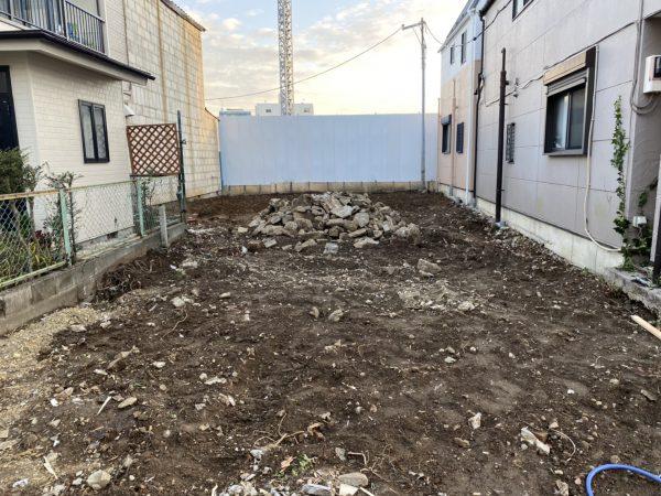江戸川区東小岩 地中埋設物撤去を行いました。