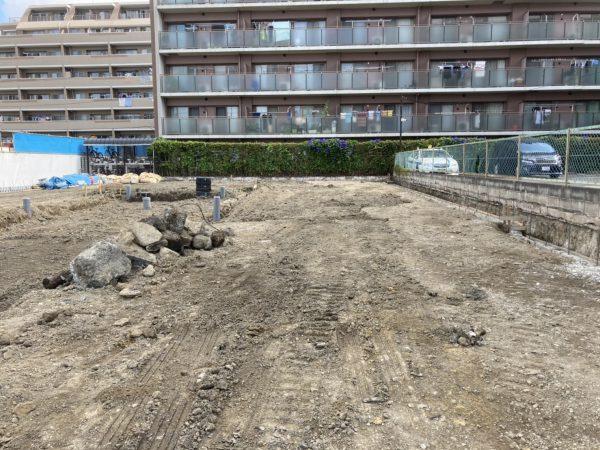 江戸川区南葛西 地中埋設物撤去を行いました。