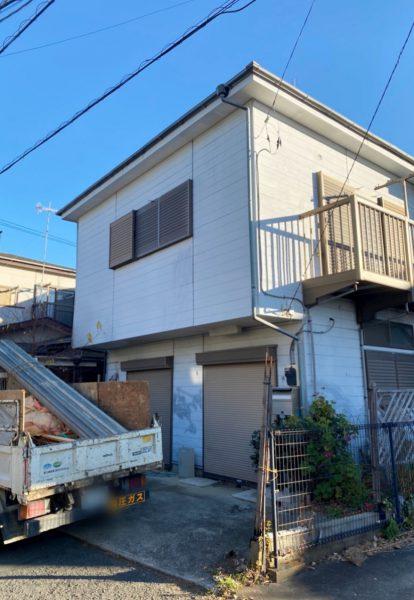 平塚市東八幡 解体工事を行いました。