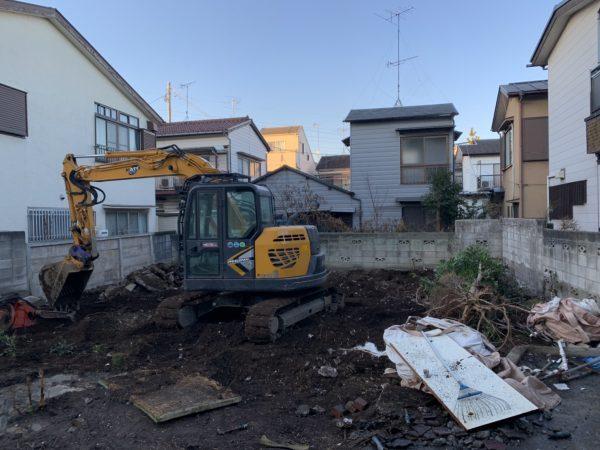 西東京市東町 地中埋設物撤去を行いました。