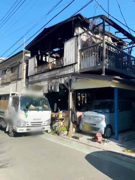 富士見市鶴瀬西 解体工事を行いました。