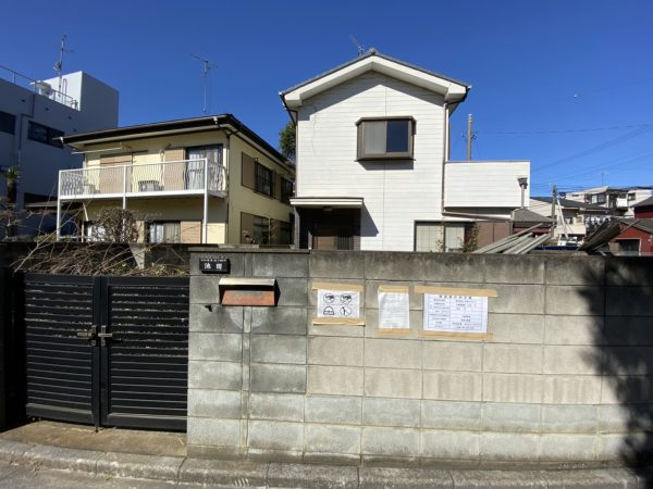 川口市末広 解体工事を行いました。
